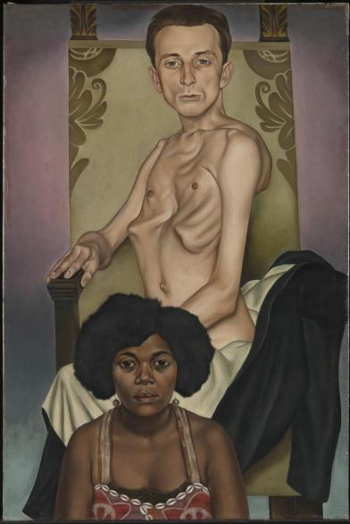 Agosta, the Pigeon-Chested Man, and Rasha, the Black Dove 1929 by Christian Schad 1894-1982