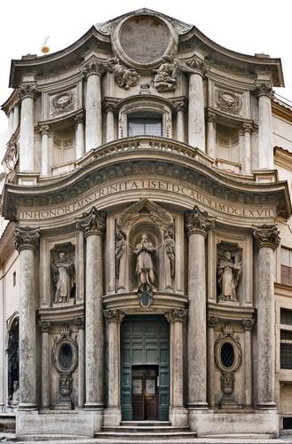 San Carlo alle quattro fontane – Un gioiello nel cuore di Roma (foto facciata)